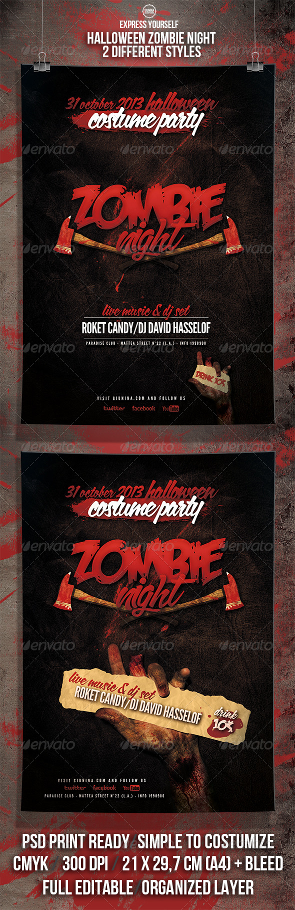 GraphicRiver Halloween Zombie Night Flyer Poster 5705629
