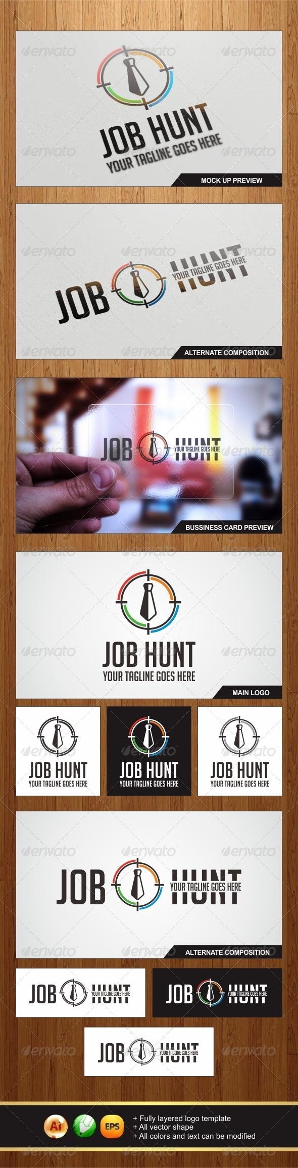 GraphicRiver Job Hunt Logo 5706144