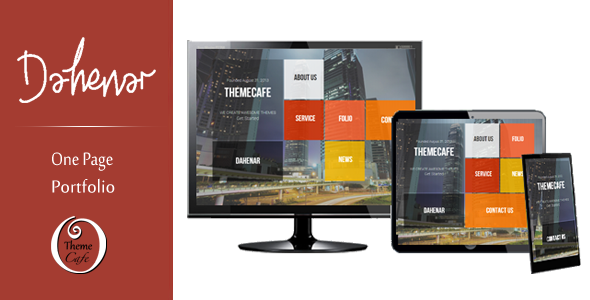ThemeForest Dahenar Responsive One Page Portfolio Template 5659958