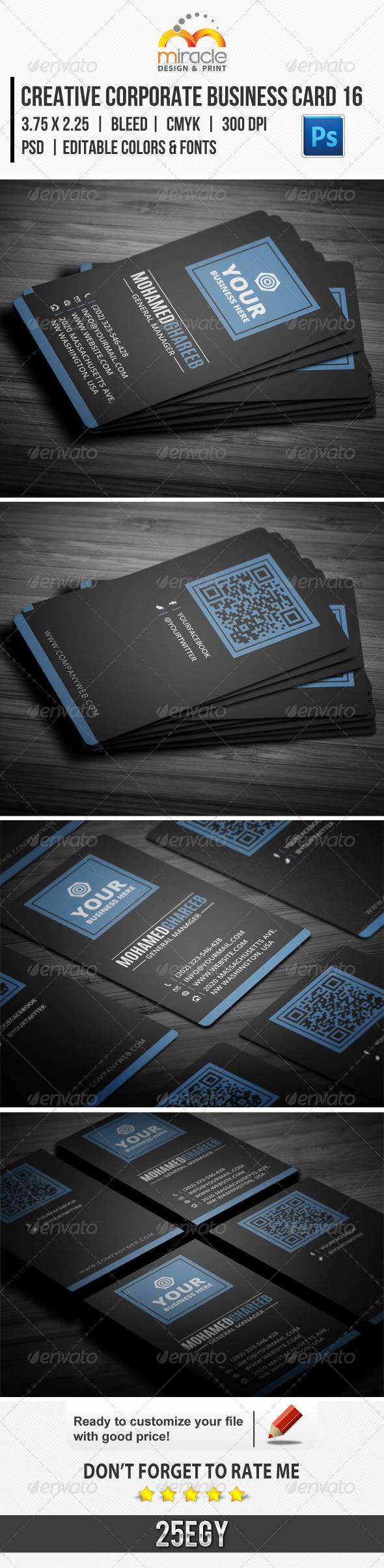 Creative Corporate Business Card 16