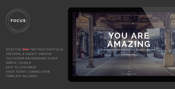 Focus - Fully Responsive Portfolio Template (Portfolio)