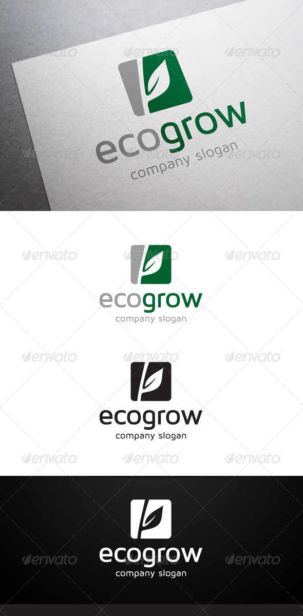 GraphicRiver Eco Grow Logo 5706168