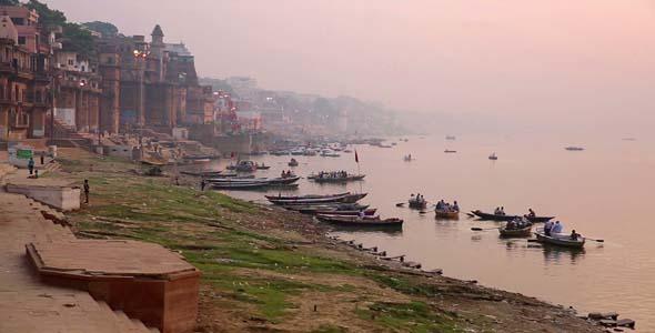 Everyday Scene In Varanasi India 6
