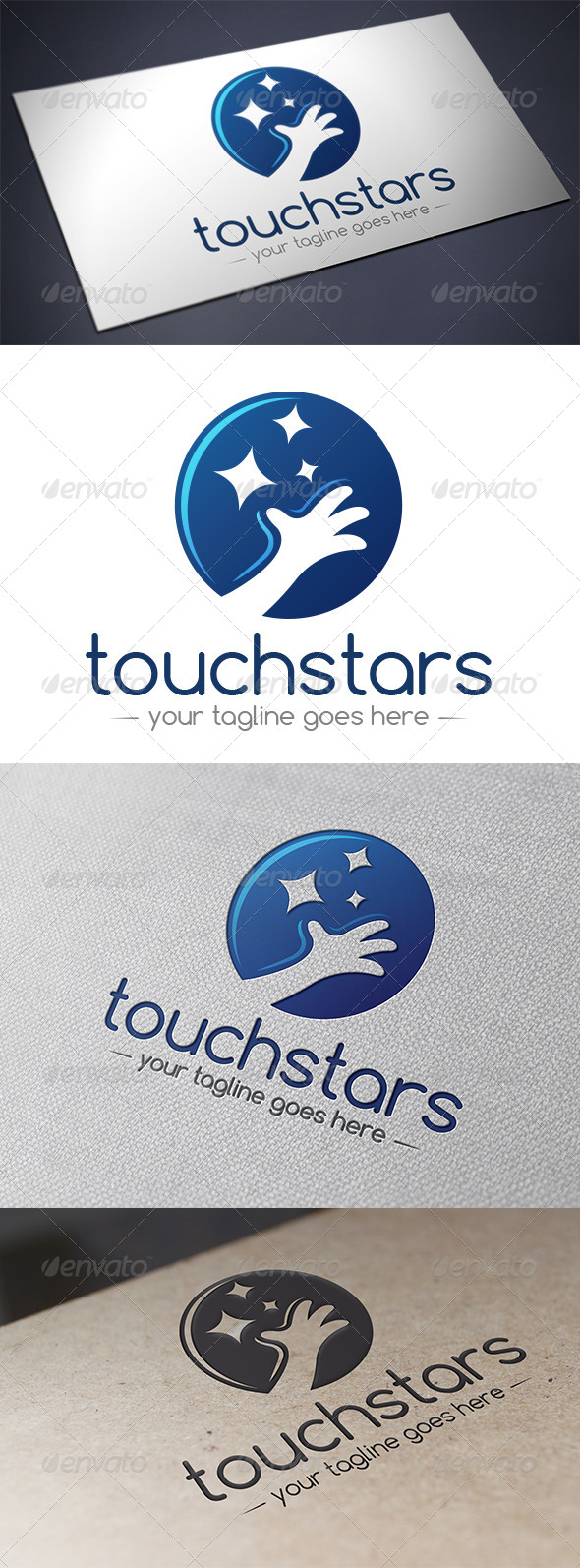 GraphicRiver Touch Stars Logo 5706224