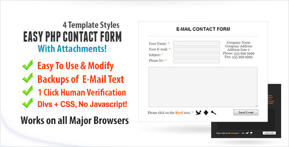 CodeCanyon Easy Contact Form With Attachments 5706226