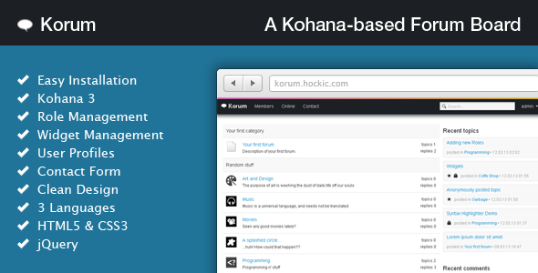 Korum - Kohana-Based Forum - CodeCanyon Item for Sale