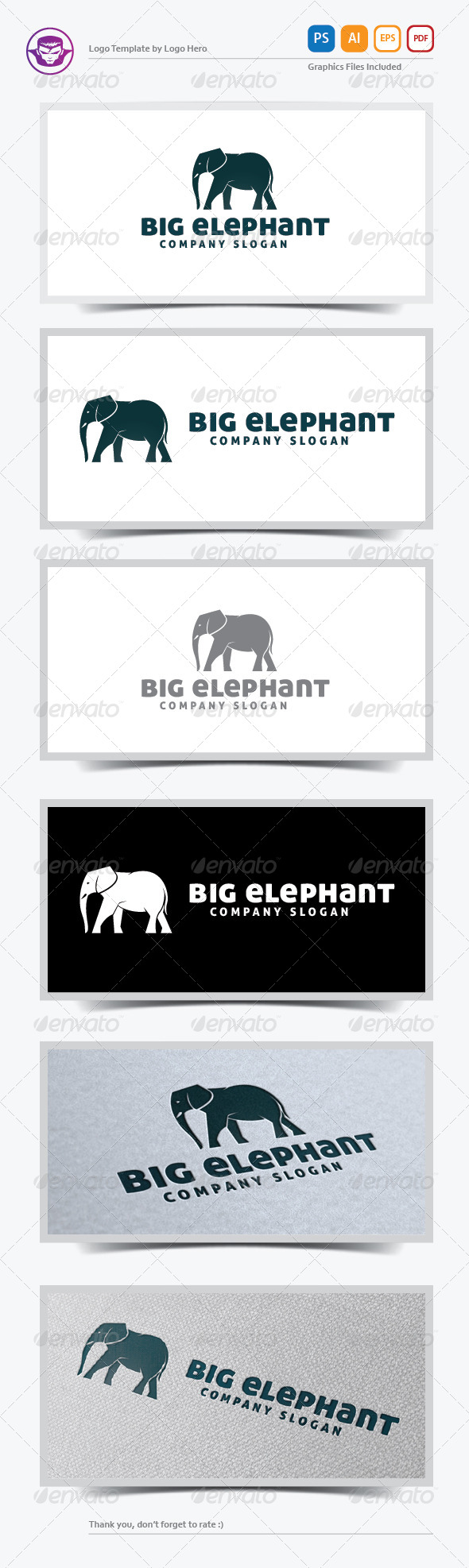 GraphicRiver Big Elephant Logo Template 5706326
