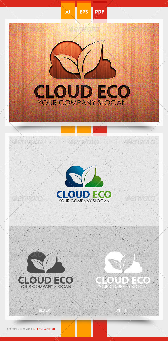 Cloud Eco Logo Template - Nature Logo Templates