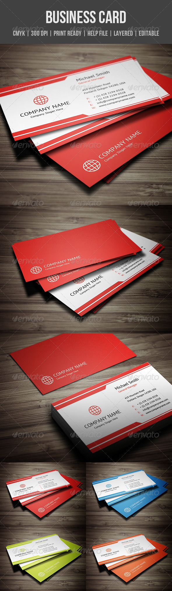 GraphicRiver Modern Corporate Business Card 5706624