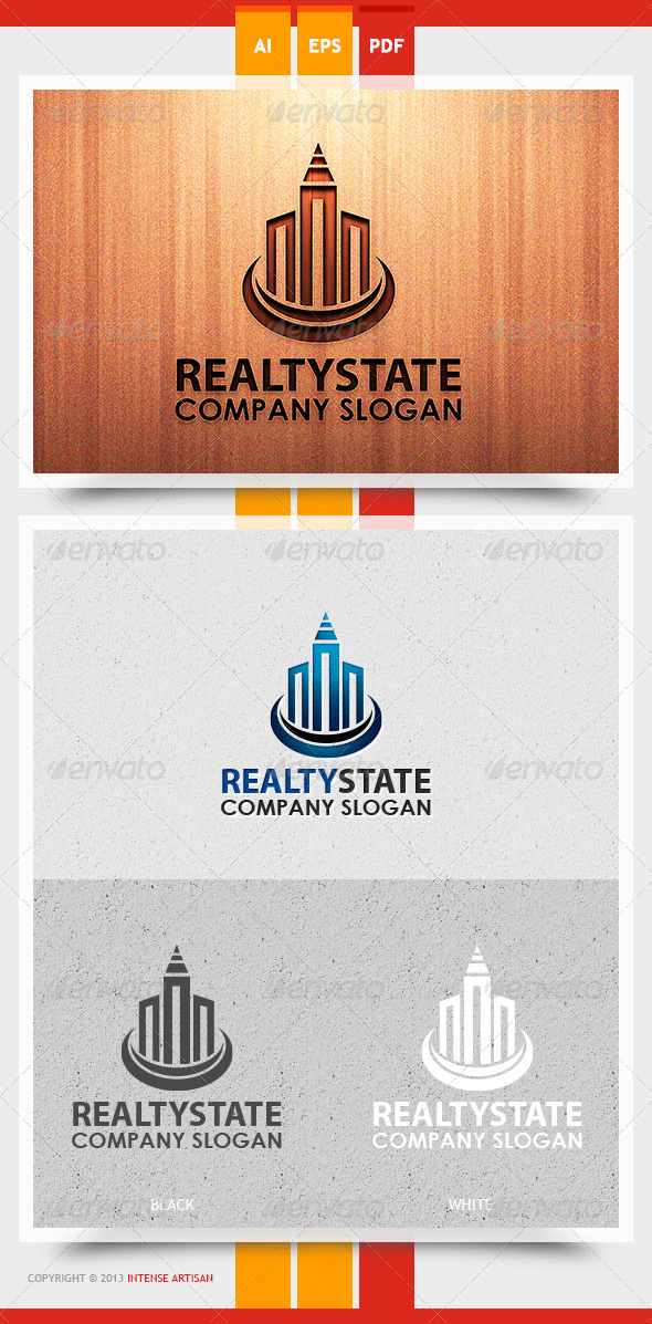Realty State Logo Template - Buildings Logo Templates