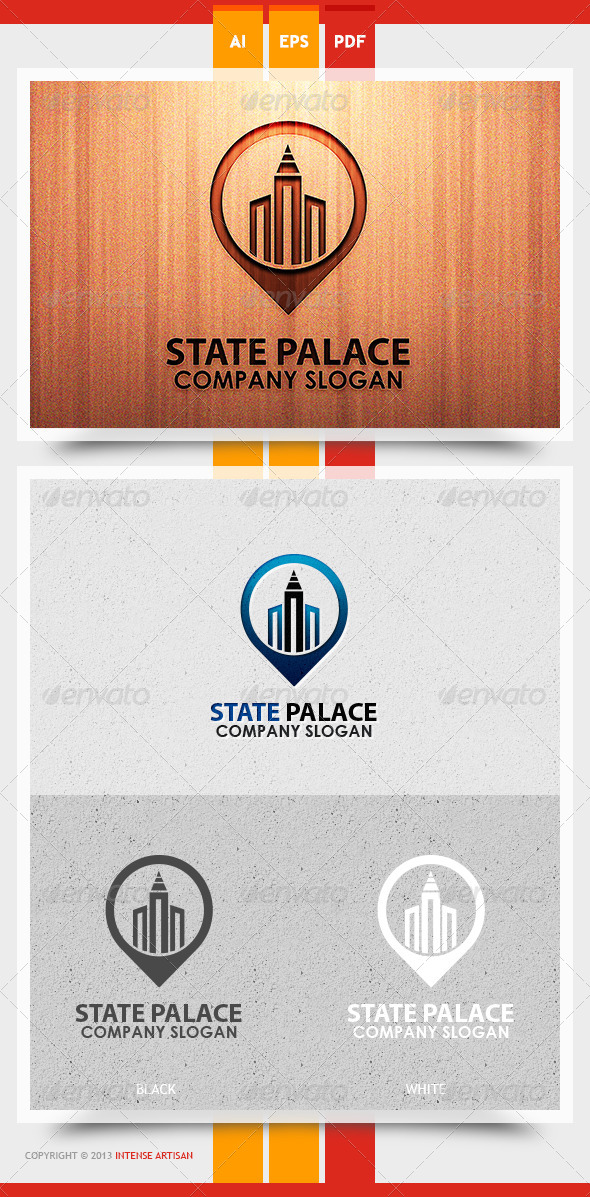 State Palace Logo Template - Buildings Logo Templates