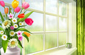 Flowers in the Window - PhotoDune Item for Sale