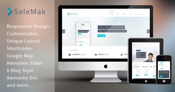 ThemeForest SeleMak Responsive HTML5 Template 5706855