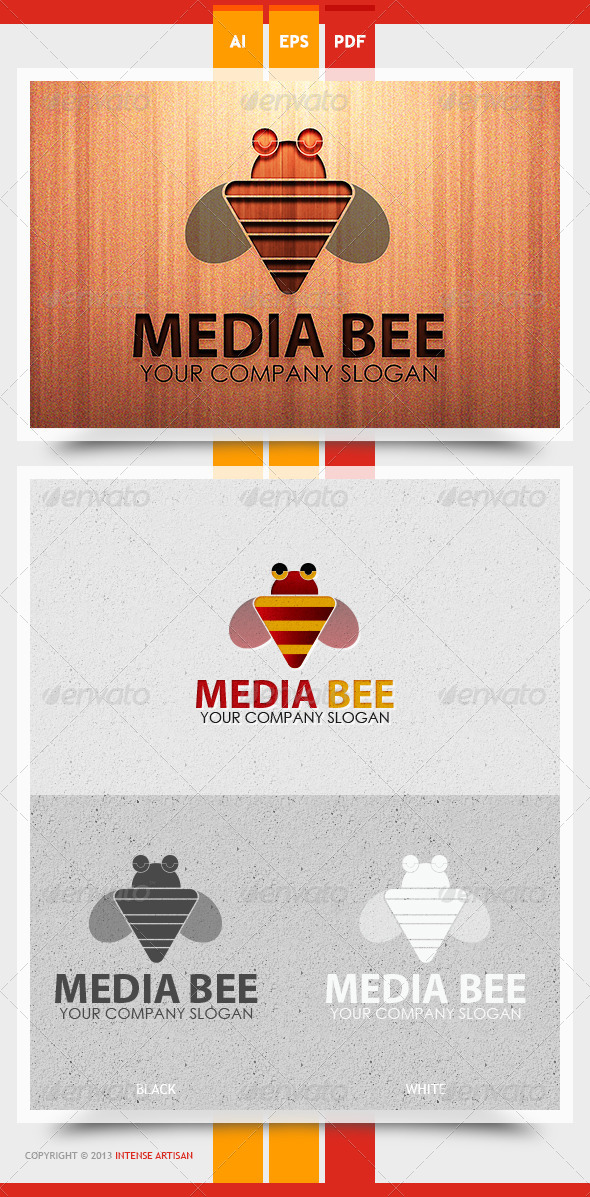 GraphicRiver Media Bee Logo Template 5707170
