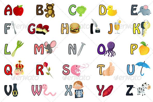 GraphicRiver Alphabet Illustration 5707176