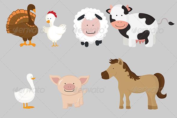 GraphicRiver Farm Animals 5707184