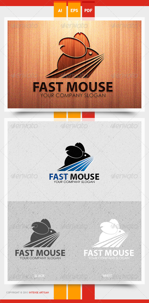 Fast Mouse Logo Template - Animals Logo Templates