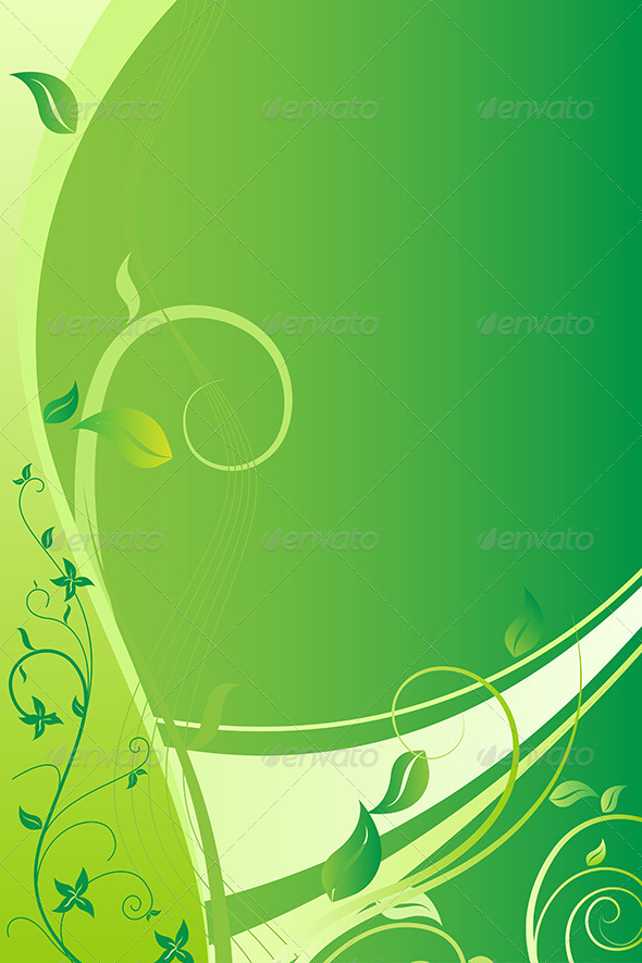 GraphicRiver Green Floral Background 5708042