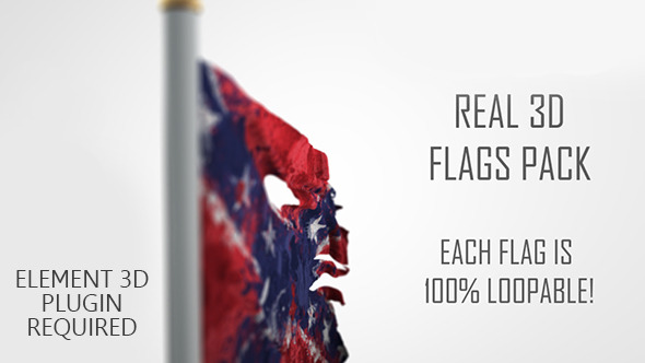VideoHive Real 3D Flags pack 5676871