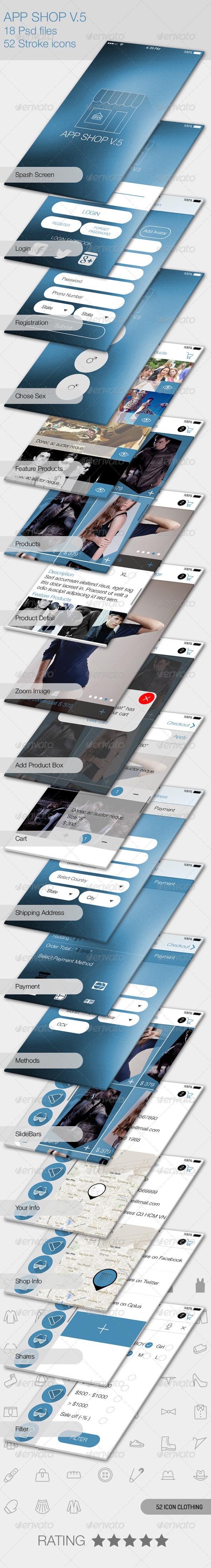 GraphicRiver App Shop V.5 for Mobile 5708208