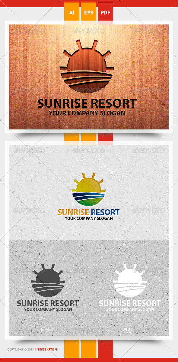 Sunrise Resort Logo Template - Nature Logo Templates
