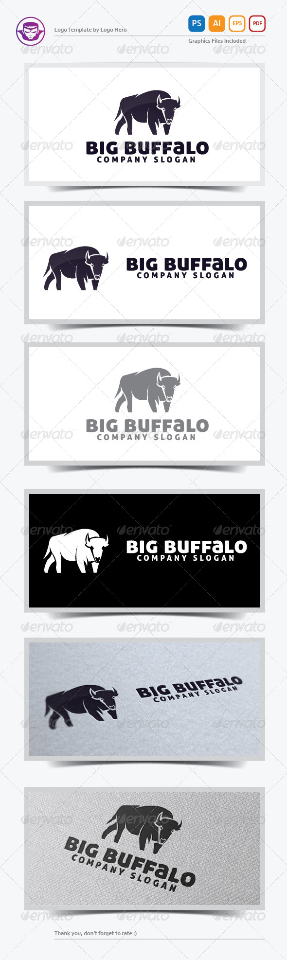 GraphicRiver Big Buffalo Logo Template 5708624