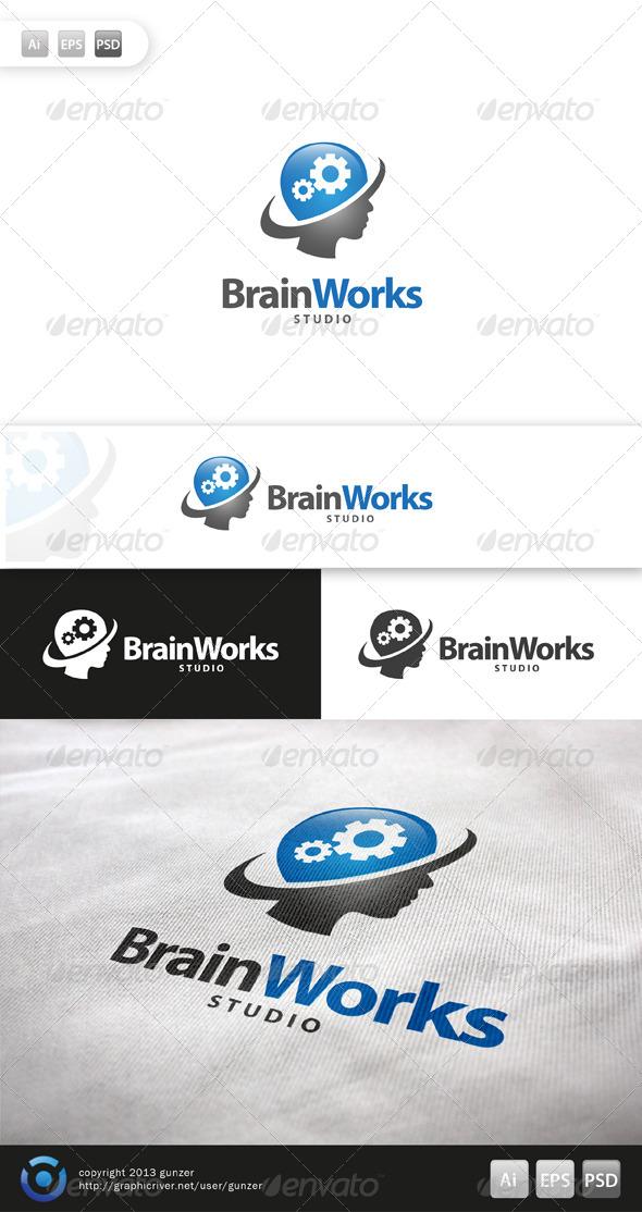 GraphicRiver Brain Works Logo 5708851