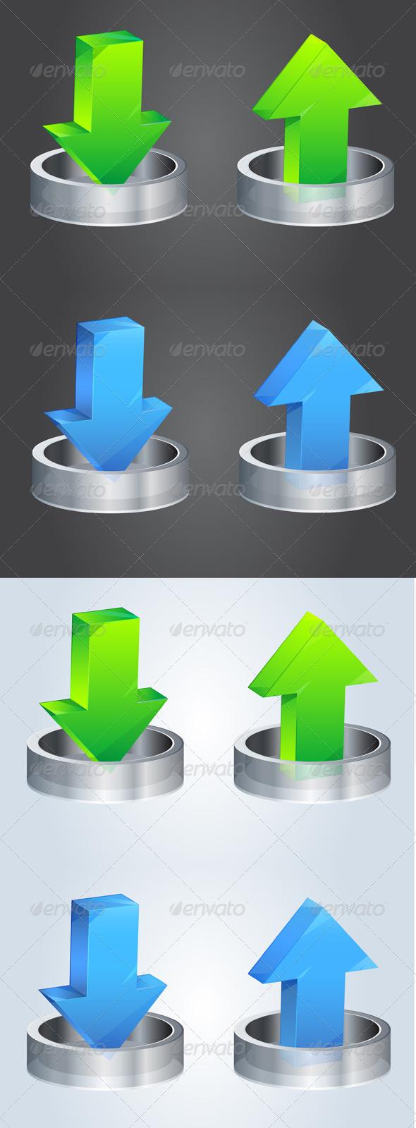 GraphicRiver Download File Icon Illustration 5709139