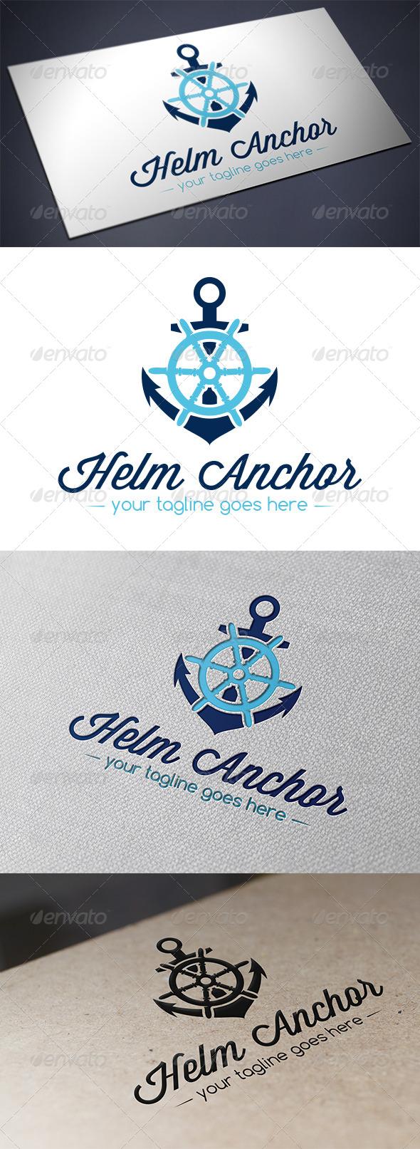 GraphicRiver Helm Anchor Logo Template 5709186