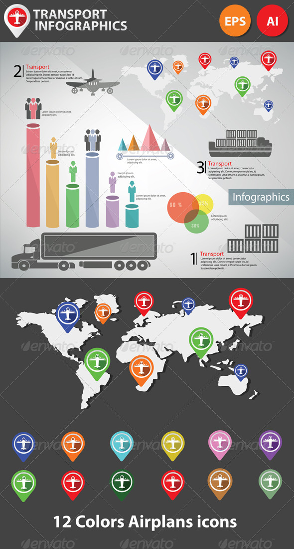 GraphicRiver Transportation Infographics 5674940