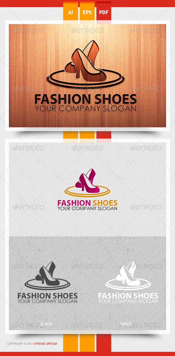 Fashion Shoes Logo Template - Objects Logo Templates