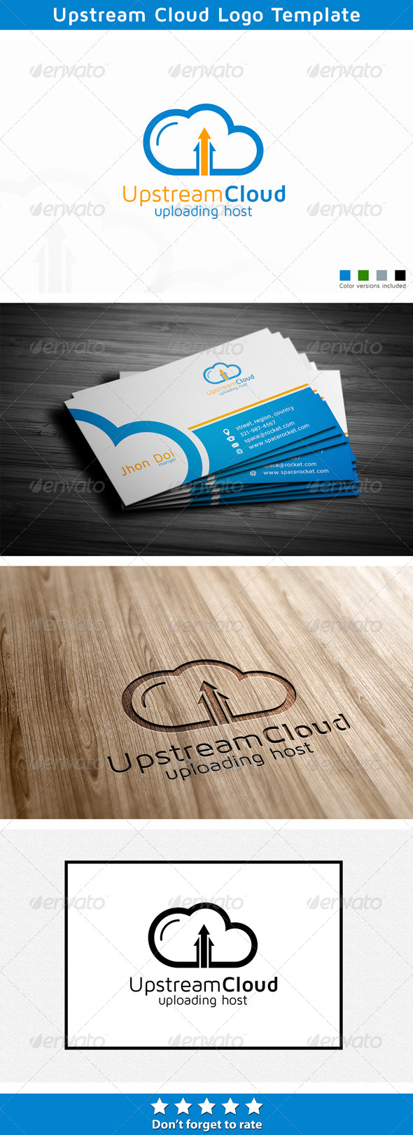 Upstream Cloud - Symbols Logo Templates