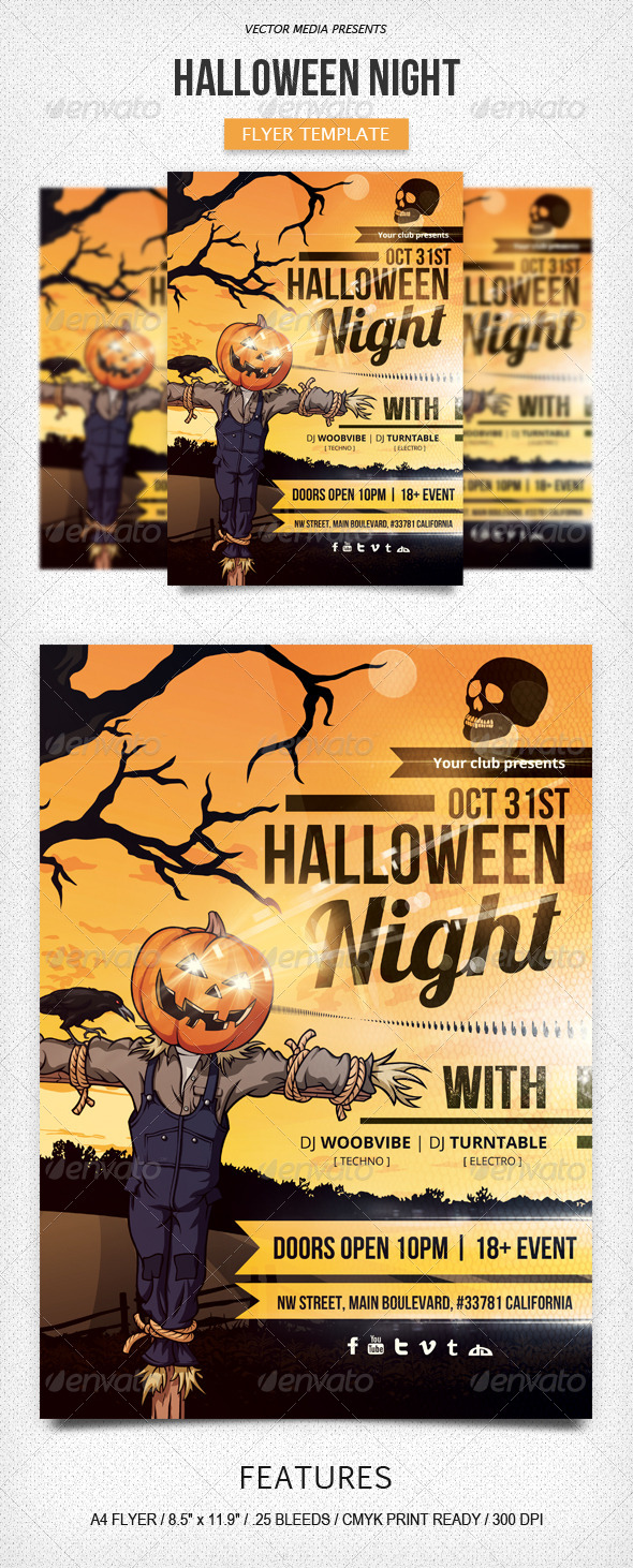 GraphicRiver Halloween Night Flyer 5709388