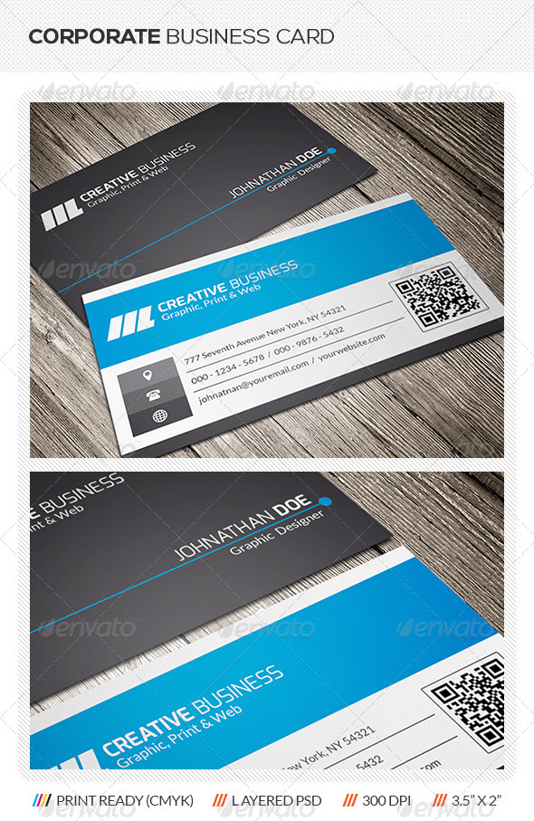 GraphicRiver QR Code Business Card 5709406