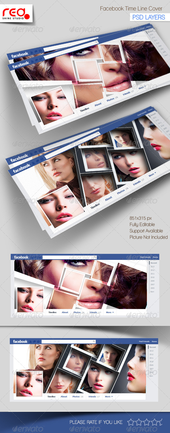 Photography Facebook Timeline Template - Facebook Timeline Covers Social Media