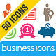 50 Business Icons - GraphicRiver Item for Sale
