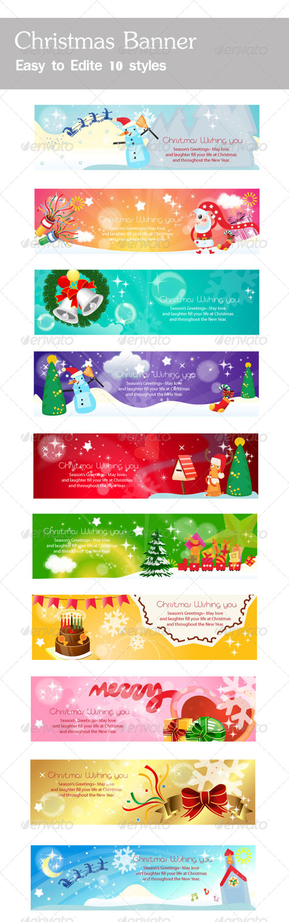 GraphicRiver Christmas Banners Collection 5709819