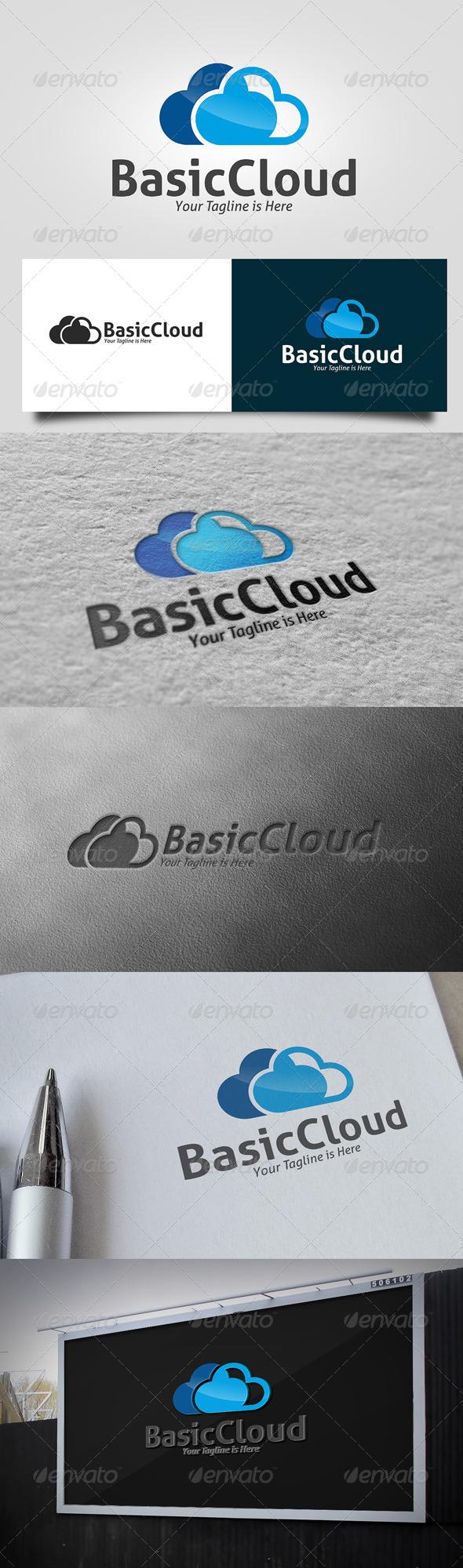 GraphicRiver Basic Cloud Logo 5709823