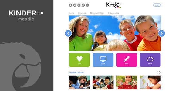 ThemeForest Kinder Moodle Theme 5709854