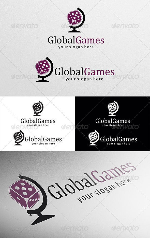 GraphicRiver Global Games Logo 5709942