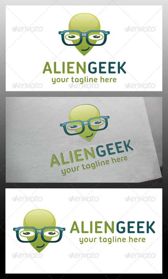 GraphicRiver Alien Geek Logo Template 5710141