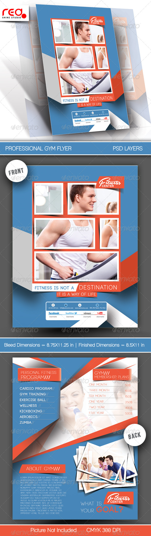 Fitness Club Flyer/Poster Template - Sports Events