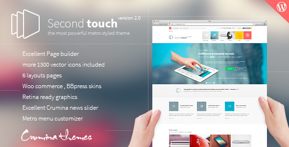 Second Touch v1.1 | ThemeForest Powerful metro styled theme