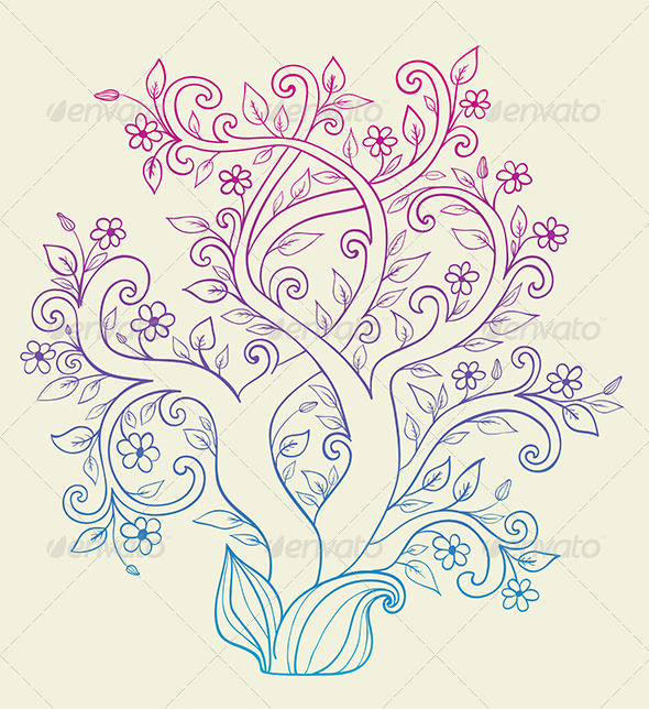 GraphicRiver Flowering Tree 5710826
