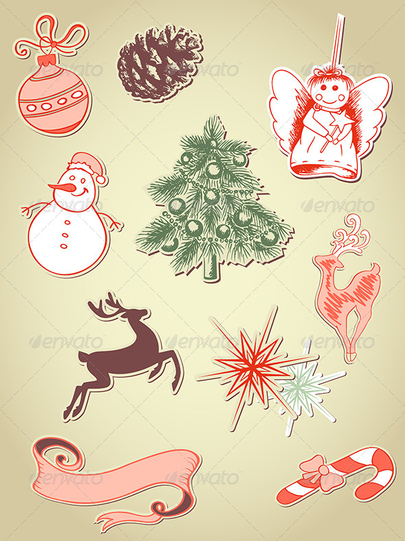 GraphicRiver Christmas Icons 5710885
