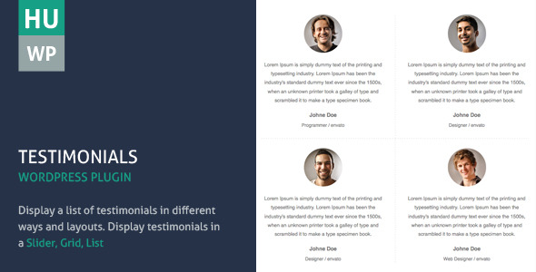 CodeCanyon Testimonials Wordpress Plugin 5710957