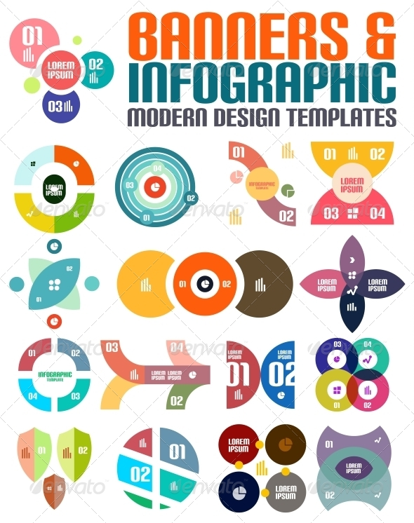 GraphicRiver Modern Geometrical Abstract Infographic Templates 5711082