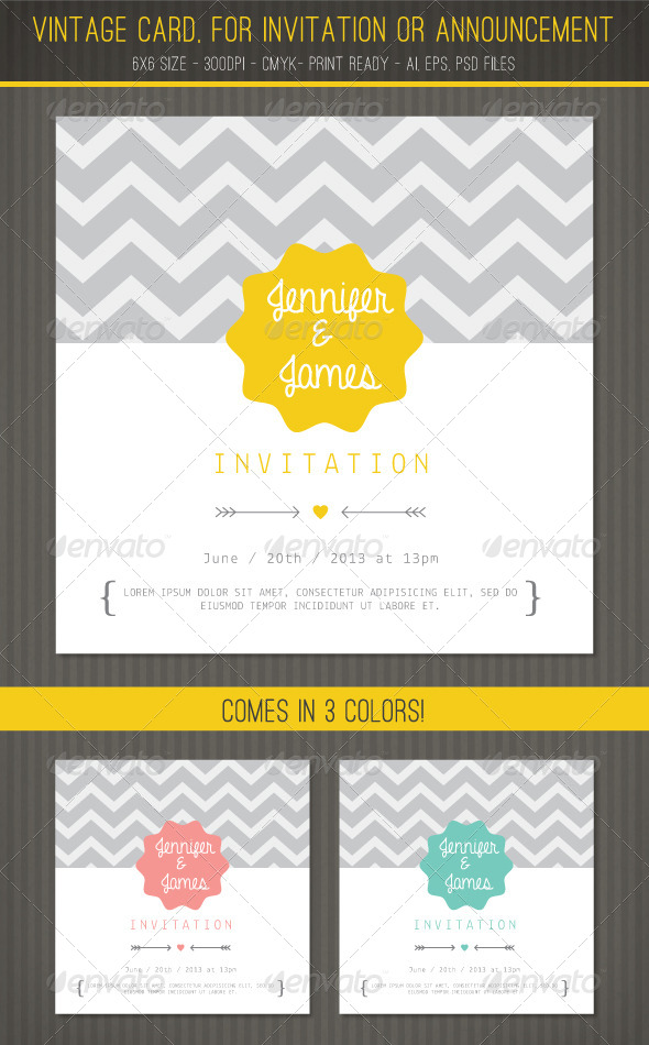 GraphicRiver Vintage card for Invitation or Announcement 5632468