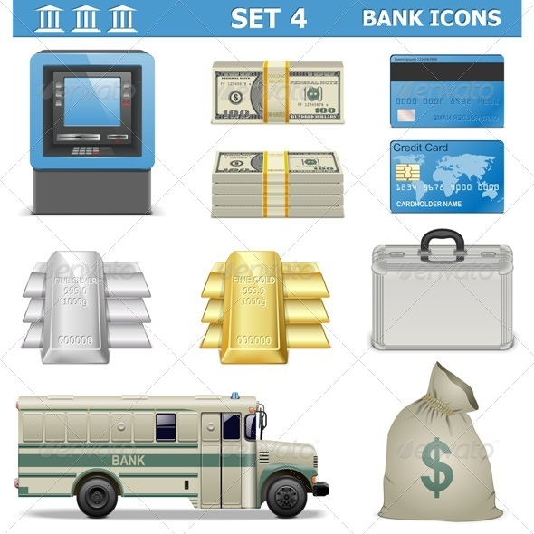 GraphicRiver Vector Bank Icons Set 4 5711385