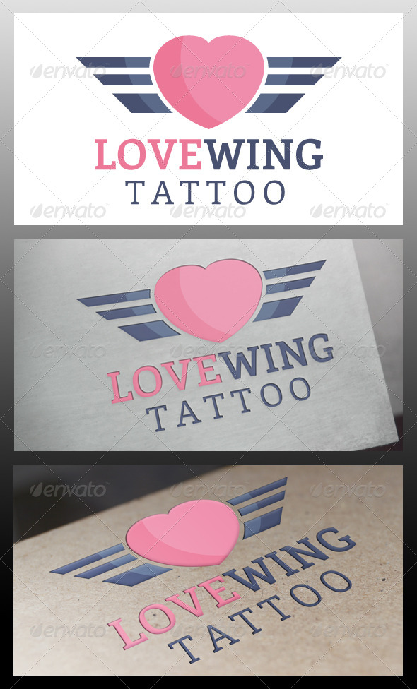 GraphicRiver Love Wings Logo Template 5711586
